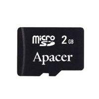 - Apacer Micro SecureDigital card 2GB
