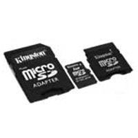 - KINGSTON MicroSD Card 2GB + 2 adapter