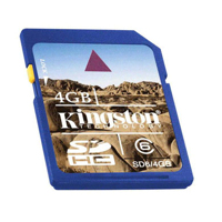 - Kingston SD High Capacity card 8GB Class6
